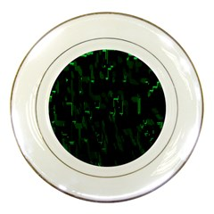 Abstract Art Background Green Porcelain Plates