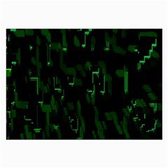 Abstract Art Background Green Large Glasses Cloth (2-Side)