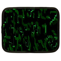 Abstract Art Background Green Netbook Case (Large)