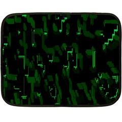 Abstract Art Background Green Double Sided Fleece Blanket (Mini)