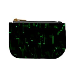 Abstract Art Background Green Mini Coin Purses