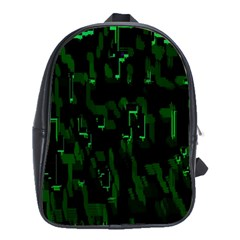 Abstract Art Background Green School Bags(large)