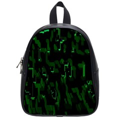 Abstract Art Background Green School Bags (Small)