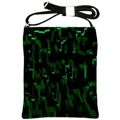 Abstract Art Background Green Shoulder Sling Bags