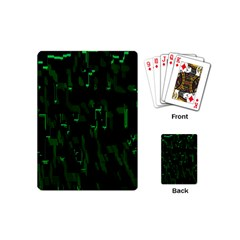 Abstract Art Background Green Playing Cards (Mini)