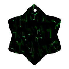 Abstract Art Background Green Ornament (Snowflake)