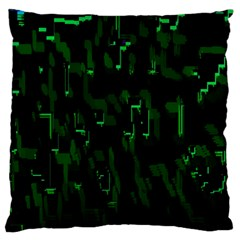Abstract Art Background Green Large Flano Cushion Case (One Side)