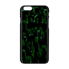 Abstract Art Background Green Apple iPhone 6/6S Black Enamel Case