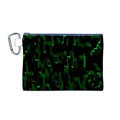 Abstract Art Background Green Canvas Cosmetic Bag (M)