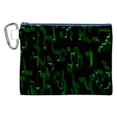 Abstract Art Background Green Canvas Cosmetic Bag (XXL)