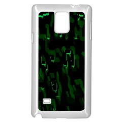 Abstract Art Background Green Samsung Galaxy Note 4 Case (White)