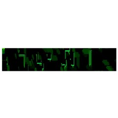 Abstract Art Background Green Flano Scarf (Small)