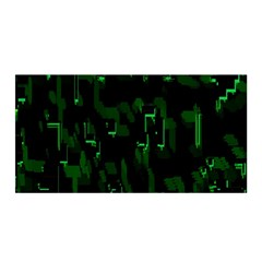 Abstract Art Background Green Satin Wrap