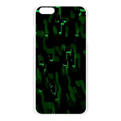 Abstract Art Background Green Apple Seamless iPhone 6 Plus/6S Plus Case (Transparent)