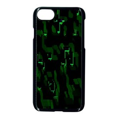 Abstract Art Background Green Apple Iphone 7 Seamless Case (black)