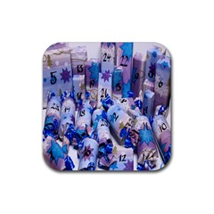 Advent Calendar Gifts Rubber Square Coaster (4 pack)