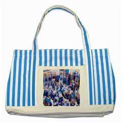 Advent Calendar Gifts Striped Blue Tote Bag
