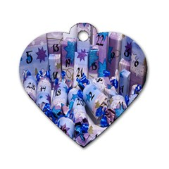 Advent Calendar Gifts Dog Tag Heart (One Side)