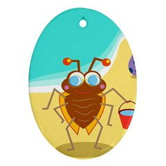 Animal Nature Cartoon Bug Insect Ornament (Oval)