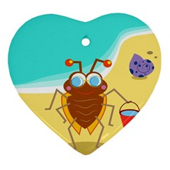 Animal Nature Cartoon Bug Insect Ornament (Heart)
