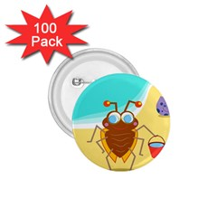 Animal Nature Cartoon Bug Insect 1.75  Buttons (100 pack)