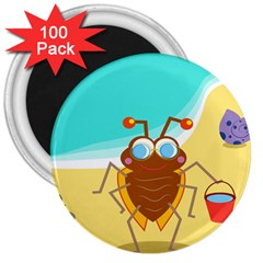 Animal Nature Cartoon Bug Insect 3  Magnets (100 pack)