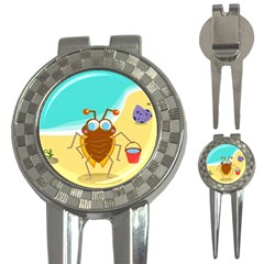 Animal Nature Cartoon Bug Insect 3-in-1 Golf Divots