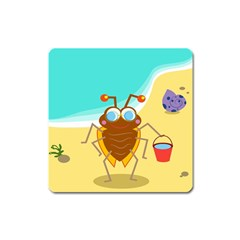 Animal Nature Cartoon Bug Insect Square Magnet