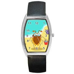 Animal Nature Cartoon Bug Insect Barrel Style Metal Watch