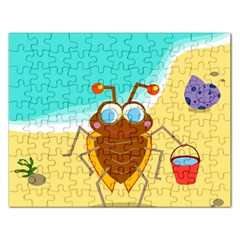 Animal Nature Cartoon Bug Insect Rectangular Jigsaw Puzzl