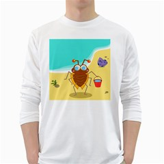 Animal Nature Cartoon Bug Insect White Long Sleeve T-Shirts