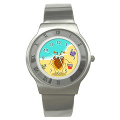 Animal Nature Cartoon Bug Insect Stainless Steel Watch