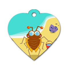 Animal Nature Cartoon Bug Insect Dog Tag Heart (One Side)