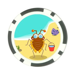 Animal Nature Cartoon Bug Insect Poker Chip Card Guard