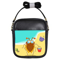 Animal Nature Cartoon Bug Insect Girls Sling Bags