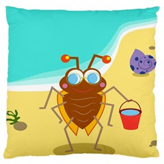 Animal Nature Cartoon Bug Insect Large Cushion Case (One Side)