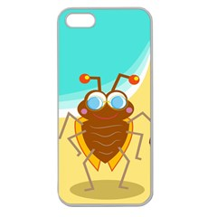 Animal Nature Cartoon Bug Insect Apple Seamless iPhone 5 Case (Clear)