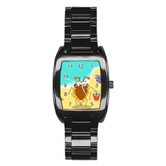 Animal Nature Cartoon Bug Insect Stainless Steel Barrel Watch