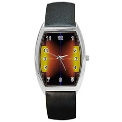 Abstract Painting Barrel Style Metal Watch
