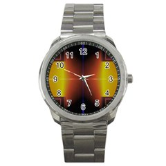 Abstract Painting Sport Metal Watch