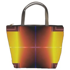 Abstract Painting Bucket Bags