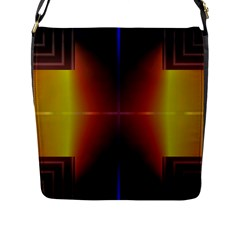 Abstract Painting Flap Messenger Bag (L)