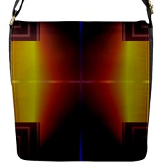 Abstract Painting Flap Messenger Bag (S)