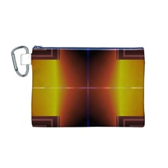 Abstract Painting Canvas Cosmetic Bag (M)