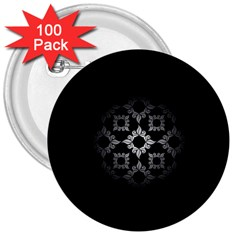 Antique Backdrop Background Baroque 3  Buttons (100 pack)