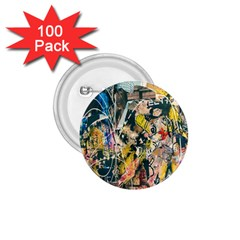 Art Graffiti Abstract Lines 1.75  Buttons (100 pack)