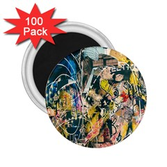 Art Graffiti Abstract Lines 2.25  Magnets (100 pack)