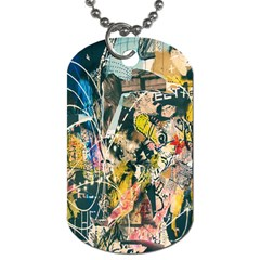 Art Graffiti Abstract Lines Dog Tag (Two Sides)
