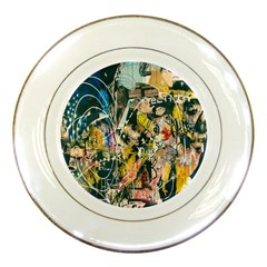 Art Graffiti Abstract Lines Porcelain Plates