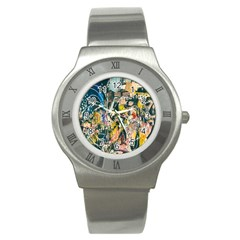 Art Graffiti Abstract Lines Stainless Steel Watch
